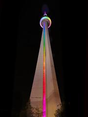 CN Tower (Ghorvei) Tags: toronto ontario canada colour tower night rainbow cntower canadiannationaltower ghorvei ghorveiphotography