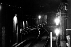 F Line (Surrealplaces) Tags: new york city newyorkcity urban blackandwhite bw white newyork black monochrome skyline brooklyn night subway blackwhite metro centralpark line gotham brookylnbridge newyorkcityf