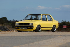 mk1 volkswagen jetta (alonzecustom.co.uk) Tags: volkswagen jetta brake 1980 alloy customs linkage 16v mk1 yellowmk1jetta2 alonze