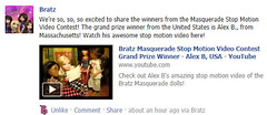Woot woot! (alexbabs1) Tags: motion by video official media doll dolls contest grand social entertainment stop winner prize masquerade mga challenge bratz facebook youtube