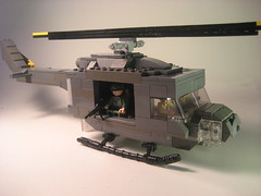Lego Huey Update (Epac1998) Tags: trees fire la us lego jets north we vietnam huey burn valley soldiers were napalm nva uh1 drang