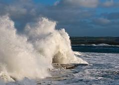 Waves crash onto Ramore Portrush (Deirdre Gregg) Tags: ireland storm beach weather golf coast waves wind head gales northernireland portrush skerries ramore eaststrand landsdownecrescent portrushopen theinspirationgroup