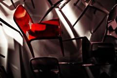I love RED! (Pel3) Tags: blue red milan yellow chair with blu milano sony pillow sofa giallo lamps rosso divano bianco sedia lampade cuscini nex5 salonedelmobile2011