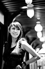Smile like an Angel (Starrain Gallery) Tags: portrait blackandwhite girl beauty smile asian 50mm nikon asia chinese d90
