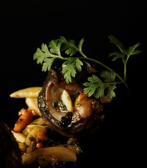 Langoustines rties en raviole - Vertig'O restaurant - Hotel de la Paix Geneva (Concorde Hotels Resorts) Tags: seafood gourmetrestaurant vertigorestaurant 1staratthemichelinguide