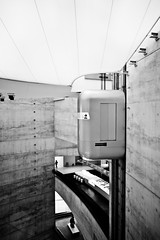 [ The Future is Now ] (bonnix (Scotty)) Tags: bw museum nikon lift stuttgart elevator mercedesbenz d700 nikkor142428