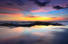 Serenity ♥ (Dyahniar Labenski) Tags: sunset bali beautiful reflections indonesia nikon colorful asia dusk serenity 1024mm d7000 pererenanbeach dyahniar