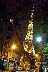 Eiffel neighborhood (robinkrumins) Tags: paris france nightshot streetlamps streetview parisnight eiffeltoweratnight parisstreets 7tharrondissement