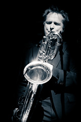 Live Jazz, Delmontis @ Arrow Jazz FM (lambertwm) Tags: bw blackwhite utrecht zwartwit livemusic performance saxophone hofman arrowjazzfm cafehofman delmontis