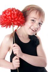 Chloe Mewett (JonCoupland) Tags: white black flower colour cute rabbit girl beautiful smile boston pose studio photography big eyes jon pretty chloe down pop lincolnshire seven thin pigtails lay coupland mewett