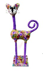 cat (**mira pinki krispil-colors of life ***) Tags: sculpture art animal cat handmade fimo clay pinki polymer        mirakris