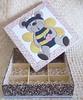 Caixa Urso (Pati Fugisse) Tags: feltro pintura tecido cartonmousse tintaparatecido tintapva patchworkembutido