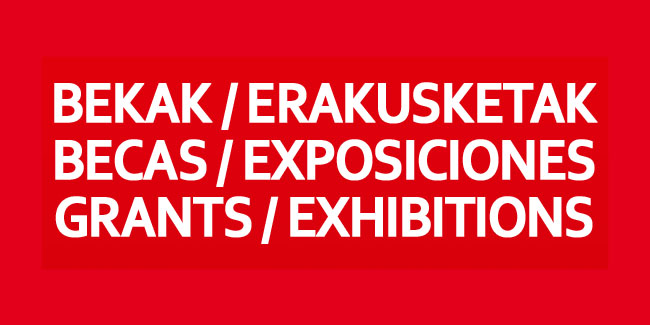 Becas y exposiciones 2012.