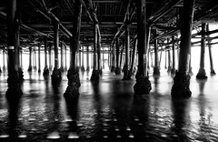 Santa Monica Pier (Philipp Rmmele (RiOTPHOTOGRAPHY.com)) Tags: ocean california ca longexposure deleteme5 light sea deleteme8 bw usa white black deleteme deleteme2 deleteme3 deleteme4 deleteme6 deleteme9 deleteme7 water dark la us losangeles saveme2 saveme3 deleteme10 peer haida saveme1 nd3 nd1000 nd110 santamonicapeer