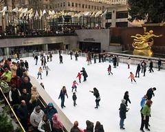 Ice Skating Rink, Rockefeller Center, New York City (jag9889) Tags: plaza city nyc people ny newyork ice statue bronze greek manhattan skating rockefellercenter scene skaters midtown rink legend 2009 prometheus y2009 jag9889