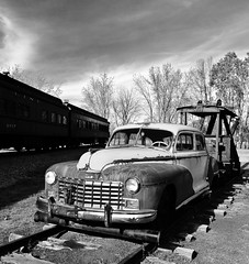 North Freedom - Dodge Rail Car (NikonD3xuser1(Thanks for 253,000 visits)) Tags: monochrome wisconsin dodge railwaymuseum railroadcar northfreedom