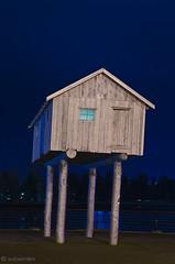 Light Shed by Liz Magor (w.d.worden) Tags: nightshots publicart vancouverbc lightshed lizmagor