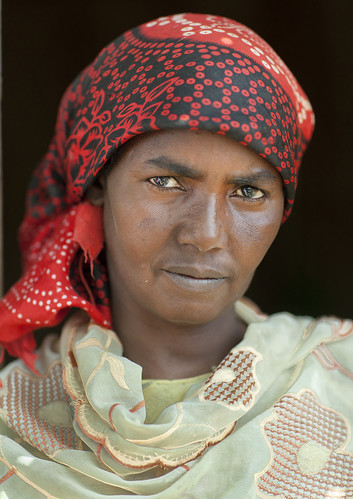 Refugee woman from Somali war In Hargeisa Somaliland