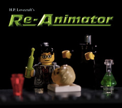 Herbert West (3rd-Rate Photography) Tags: macro canon movie poster lego florida 100mm 7d horror jacksonville minifig herbertwest reanimator hplovecraft toyphotography earlware