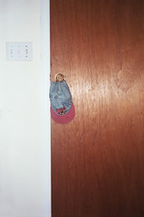 (Jacob Seaton) Tags: door wood hat wall jean doorknob knob lightswitch