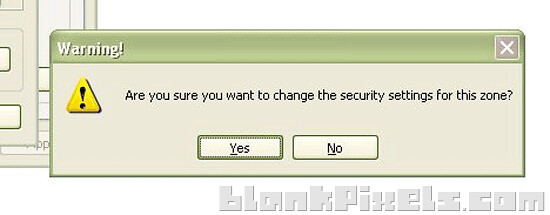 Alert when changing security settings