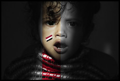 Yemeni kid 1 (gamalmorisi) Tags: school portrait smile face photography kid eyes child sad young middleeast peaceful arab revolution 7d yemen cry  yemeni               arabspring