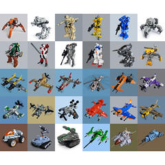 2011 Lego builds overview (Fredoichi) Tags: toys lego space military robots vehicles videogames scifi characters fighters sculptures mecha tanks mech skyfi starfighters fredoichi micromicroscale