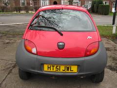 JANUARY 2002 FORD 1299cc KA HT51JWL (Midlands Vehicle Photographer.) Tags: 2002 ford january ka 1299cc ht51jwl