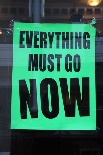 Everything must go NOW