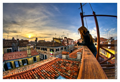 No Number | Beloved Things (Nicola Bernardi) Tags: venice sunset rooftop nikon tramonto tetto fisheye 8mm venezia hdr costanza d300 samyang altana blinzoni