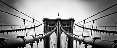 Brooklyn Bridge (Dennis Herzog) Tags: nyc newyorkcity bridge urban blackandwhite bw ny newyork monochrome architecture brooklyn niceshot manhattan bridges brooklynbridge eastriver lower newyorkbridges nycbridges iconicarchitecture mygearandme mygearandmepremium iconicbridges