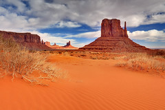 Together (Ireena Eleonora Worthy) Tags: winter red storm utah monumentvalley mittens northernstraitsphotography