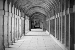 Simplemente arcos (dprats) Tags: espaa architecture spain arquitectura nikon europa dof 85mm tunnel arches palace tunel palacioreal royalpalace palacio arcos aranjuez shallowdof d300 nikkor85mmf14afd danielprats