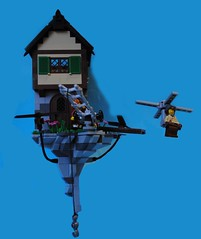 Buchwald Family homestead (Bruno VW) Tags: blue rock lego air contest floating propeller steampunk foitsop