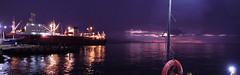Muelle de Cumana Partida (Javier Volcan) Tags: sea sky noche muelle boat mar nikon barco purple venezuela cielo caribbean nigth lifesaver caribe morado cumana purpura salvavida p300 jdvolcan jdvolcangmailcom