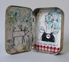 small Pastilles tin # 1 (hens teeth) Tags: uk mixedmedia character prim habdmade