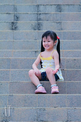 Little kids at the park (Alphone Tea) Tags: life family pink light portrait favorite white color cute green art nature beautiful smile grass childhood yellow kids composition contrast pose garden print children photography evening daylight photo amazing model asia stair pretty sitting bright little sweet bokeh modeling outdoor great models chinese adorable lovely naturalight handhold 2011 100400 60d