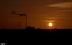 Sunset ... (Amir Kamran) Tags: sunset chimney cloud sun black industry silhouette evening nikon republic shine czech prague smoke amir czechrepublic kamran d5000 nikond5000 amirkamran