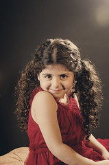 Aljazi (Ebtesam.) Tags: red girl curly aljazi   ebtesam