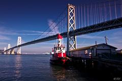 Fire Boat (Michael Sheets) Tags: sanfrancisco bridge canon wideangle embarcadero eastbay fireboat 1022 60d