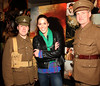 Soldiers Noel Mullen & Brian Kenny escorting Glenda Gilson down the red carpet at the Irish Premiere of 'War Horse' in the Savoy Cinema, Dublin. Opens at cinemas across the country Friday 13th. Photo: Anthony Woods