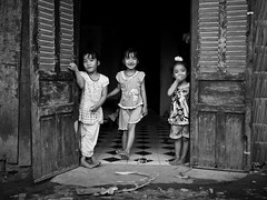 Doors are open, Village near Can Tho - Mekong Delta (adde adesokan) Tags: street door travel girls people smiling pen river photography asia streetphotography documentary delta olympus vietnam mekong cantho ep3 streetphotographer m43 mft mirrorless microfourthirds theblackstar mirrorlesscamera streettogs addeadesokan