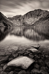 Strength of Conviction - Convict Lake, California (Jim Patterson Photography) Tags: california longexposure travel winter lake mountains nature monochrome sepia reflections landscape outdoors toned easternsierras convictlake jimpattersonphotography jimpattersonphotographycom seatosummitworkshops seatosummitworkshopscom