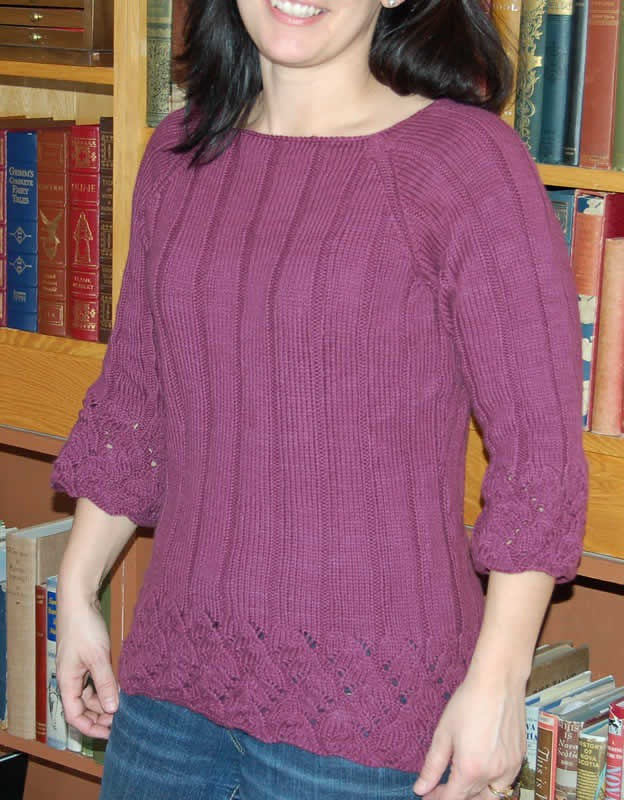 Chinese Lace Pullover knit with woolganic dk