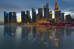 Singapore Cityscape (Wang Guowen (gw.wang)) Tags: lighting longexposure reflection nikon singapore cityscape nightshot postcard firework 2012 singaporeskyline digitalblending cs5 marinabaysands d7000 tokinaaf1116mmf28 tokinaatx116f28 blinkagain gwwang wwwon9cloudcom