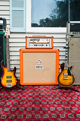 Orange Rockerverb 50 (brendan.j.ford) Tags: music orange outdoors bass guitar gear marshall equipment fender speaker gibson bassguitar speakers amps emperor ampeg amplifiers gl firstact ampstack
