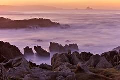 Liencres, playa de Canallaves (seryani) Tags: ocean longexposure november sunset sea costa beach water canon atardecer coast mar twilight spain rocks europa europe view tide