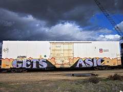 GETS/ASIC (whos the master) Tags: train graffiti reefer armn asic