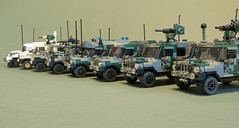 Wolfhounds (Aleksander Stein) Tags: light volvo lego military cargo ambulance special vehicle purpose patrol multi forces iveco wolfhound sentry armoured tactical ndc rws c404 c405 m226 ampv