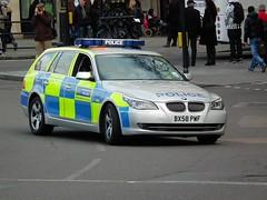 Met Police ATR (kenjonbro) Tags: uk london car silver estate traffic trafalgarsquare bmw 2009 touring atr metropolitanpolice 530d kenjonbro fujihs10 bx58pwf